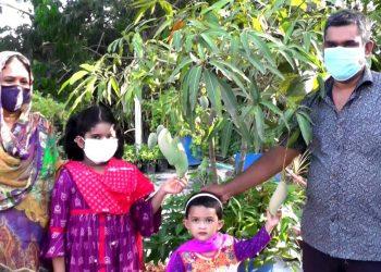 ছাদ বাগান করে স্বপ্ন পূরন করেছেন মো: কামরুজ্জামান জুয়েল